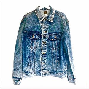 Vintage Lee Acid Wash Button Up Jean Jacket